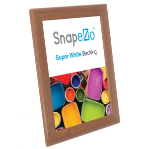 8.5x11 Dark Wood SnapeZo Snap Frame - 1.25 Inch Profile