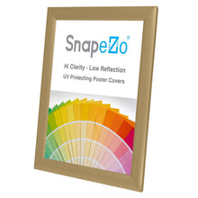 "Load image into Gallery viewer, 8.5x11 Gold SnapeZo® Snap Frame - 1"" Profile"