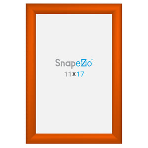 11x17 Orange SnapeZo® Snap Frame - 1.2 Inch Profile