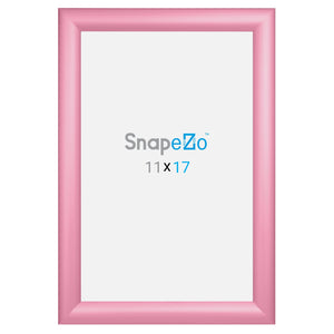 11x17 Pink SnapeZo® Snap Frame - 1.2 Inch Profile