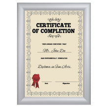 Load image into Gallery viewer, 12x15 Silver SnapeZo® Snap Frame - 1.2 Inch Profile