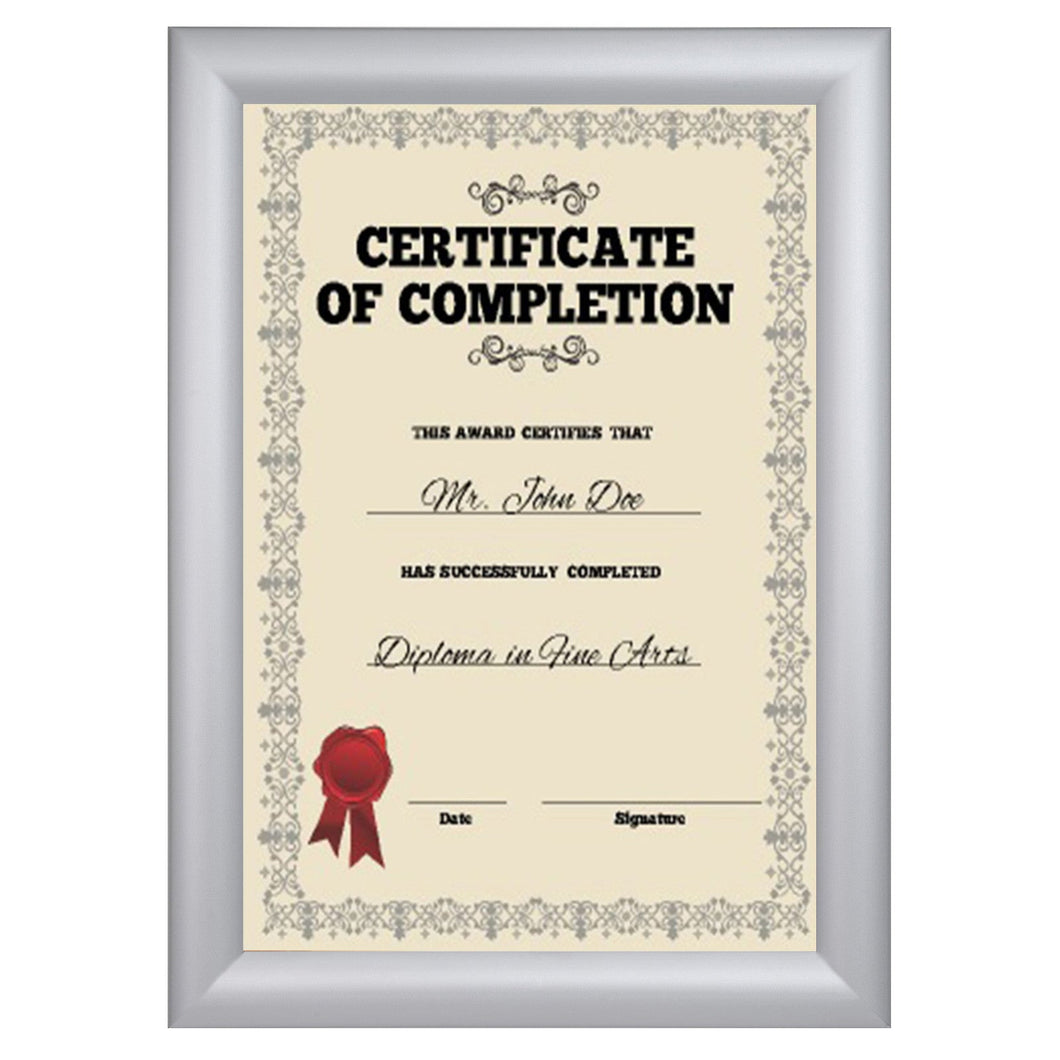 12x15 Silver SnapeZo® Snap Frame - 1.2 Inch Profile