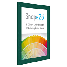 "Load image into Gallery viewer, 8.5x11 Green SnapeZo® Snap Frame - 1.2"" Profile"