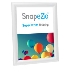 "Load image into Gallery viewer, 8.5x11 White SnapeZo® Snap Frame - 1"" Profile"