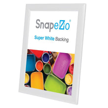 Load image into Gallery viewer, 8.5x11 White SnapeZo® Snap Frame - 1 Inch Profile