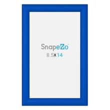 "Load image into Gallery viewer, 8.5x14 Blue SnapeZo® Snap Frame - 1.2"" Profile"