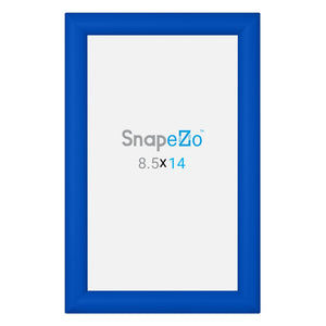 "8.5x14 Blue SnapeZo® Snap Frame - 1.2"" Profile"
