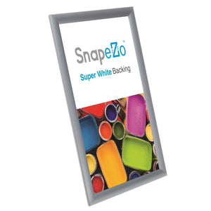 A3 Brushed Silver SnapeZo® Snap Frame - 1 Inch Profile