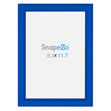 "Load image into Gallery viewer, A5 Blue SnapeZo® Snap Frame - 1"" Profile"