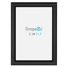 "Load image into Gallery viewer, A5 Black SnapeZo® Snap Frame - 1"" Profile"
