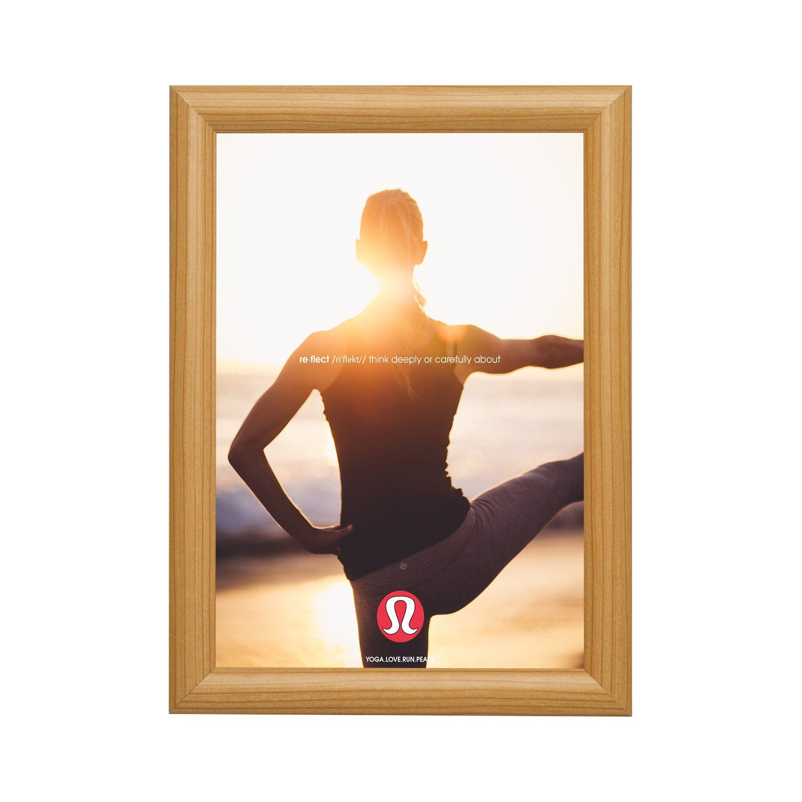 Light Wood Snapezo Snap Frame Poster Size 24x30 1 Inch Profile