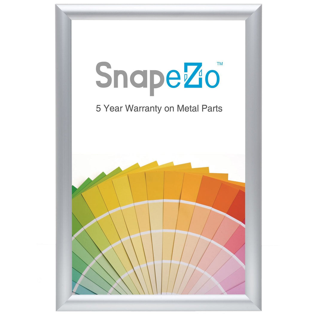 17x19 Silver SnapeZo® Snap Frame - 1.25 Inch Profile
