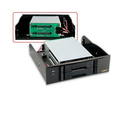 "Lindy 20968 - 5.25"" Mobile Rack for 2x 2.5"" SATA Drive"
