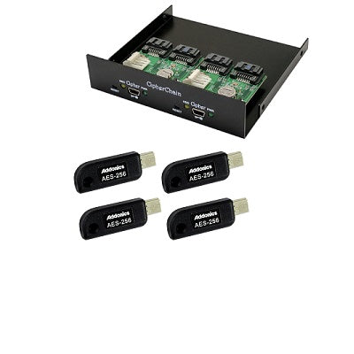 "Addonics Technologies CC2-35MK2 - Dual CipherChain II 6G SATA encryption module on 3.5"" bay brkt"