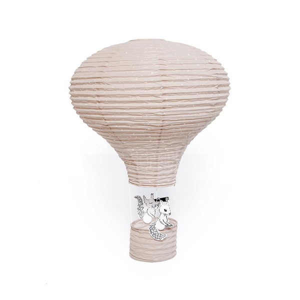 Ceiling Lantern . Hot Air Balloon / Paper - Pink