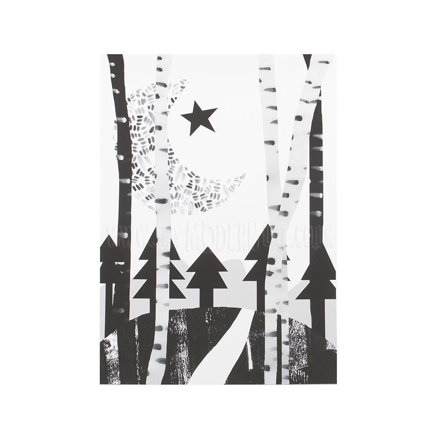 Print . Exclusive / Moon Over Forest - A3