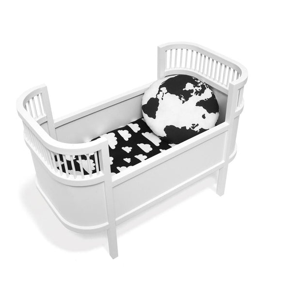 Toy . Retro Dolls Bed / Small Crib - White