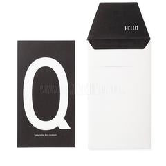 Card . A-Z - Black & Off-White