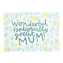 Card . For Mum . Wonderful Mum