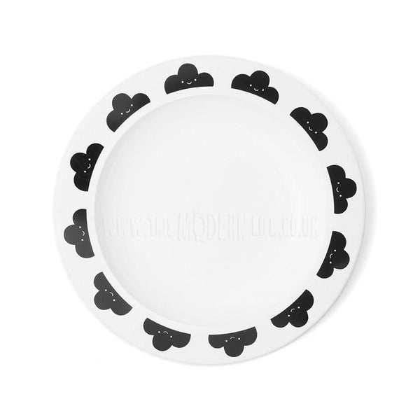 Children's Plate . Cloud - Black