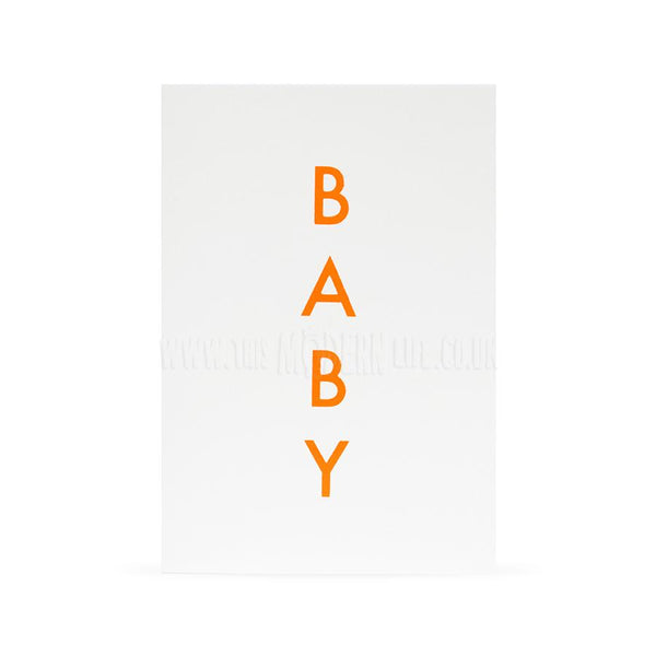 Card . New Baby Boy/Girl - Neon Typography