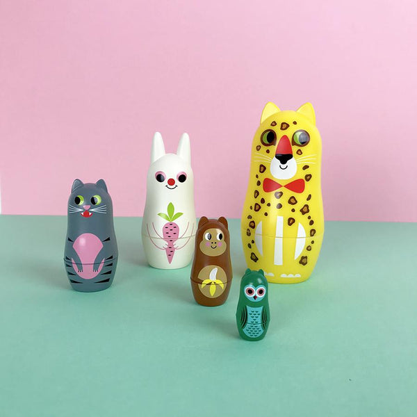Toy . Nesting Dolls - Animals 3