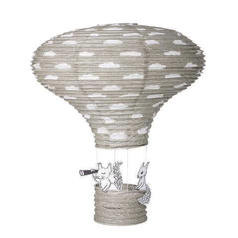 Ceiling Lantern . Hot Air Balloon / Paper - Grey