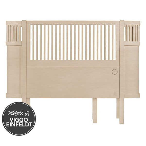 Cotbed . Limited Edition Sebra Baby Cot & Junior Bed - Beech
