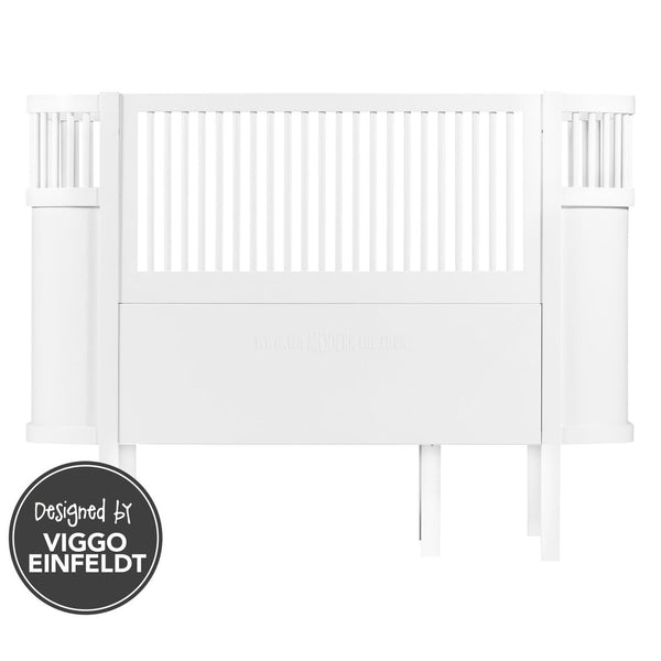 Cotbed . Sebra Baby Cot & Junior Bed - White