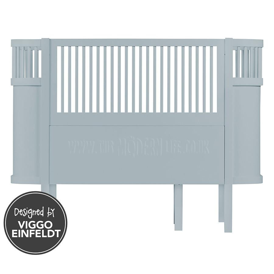 Cotbed . Sebra Baby Cot & Junior Bed - Blue