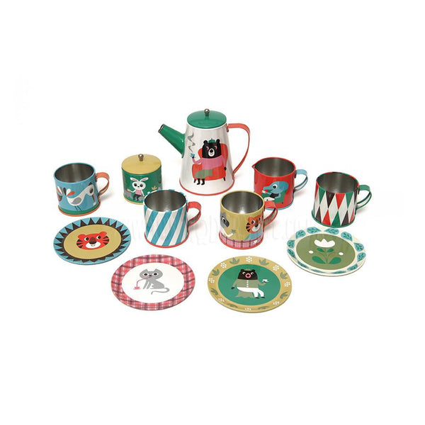 Toy . Tea Set - Tin