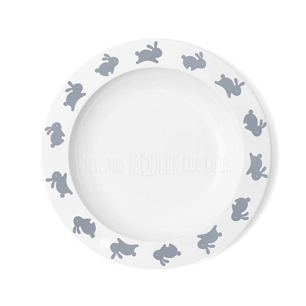 Children's Plate . Bunny - Grey