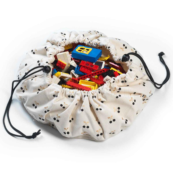 Storage . Small Toy Bag / Play Surface - Cherry