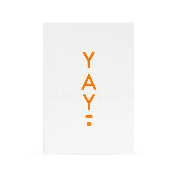 Card . Any Occasion - Neon Typography/Yay!