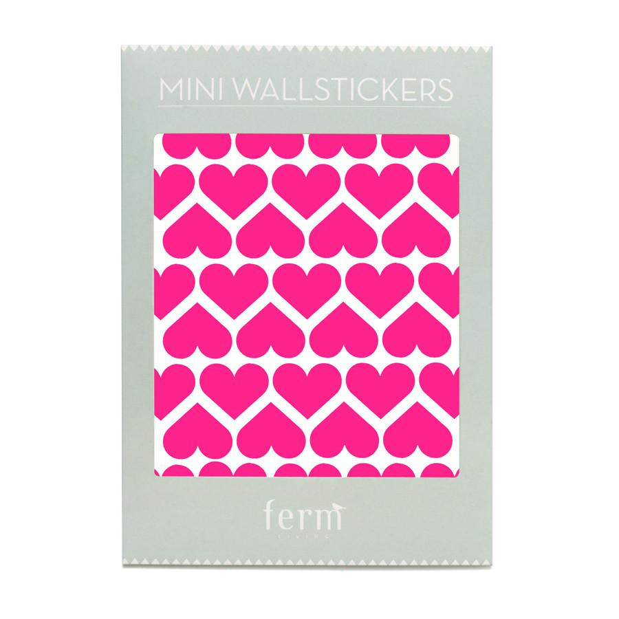 Wall Stickers . Mini Hearts - Neon Pink