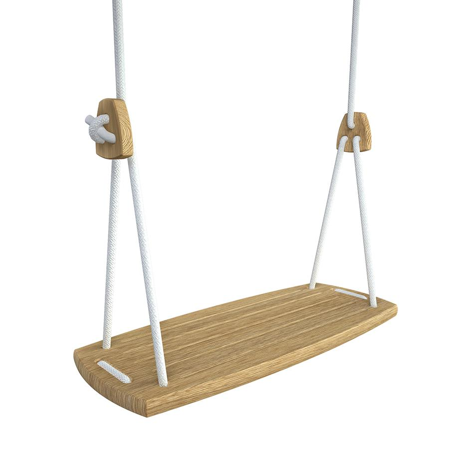 Grand Swing . Oak Seat - White Ropes