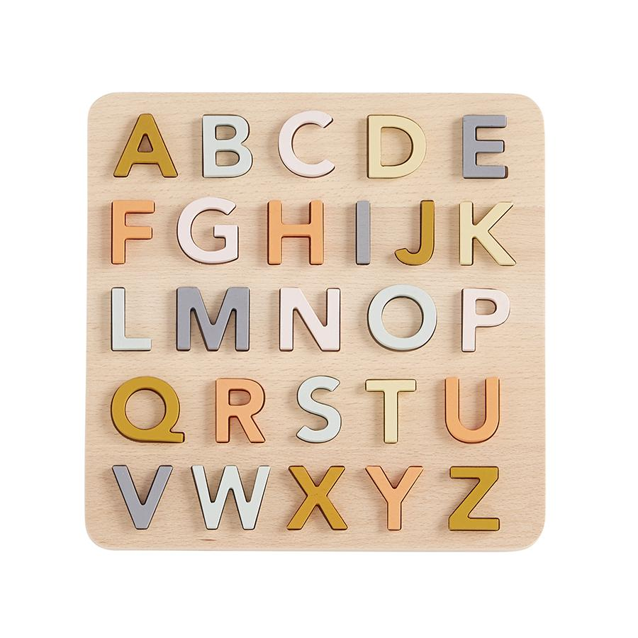 Toy . Wooden Puzzle - ABC