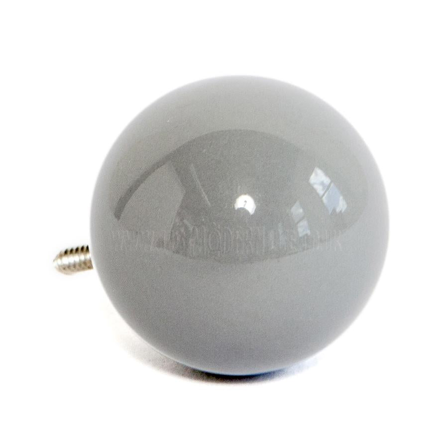 Wall Hook . Ceramic Sphere - Grey
