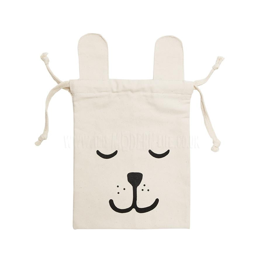 Storage . Cotton Bag - Bunny / Small