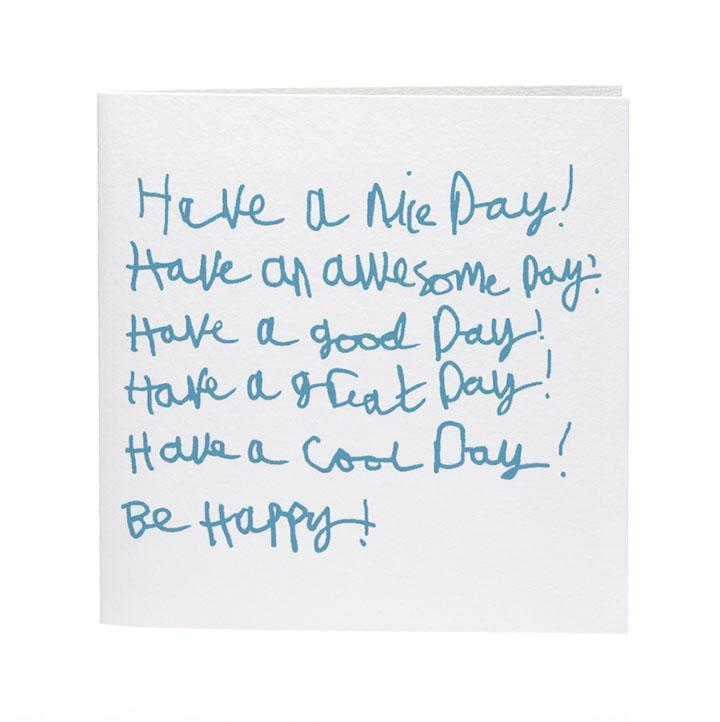 Card . Have A Nice Day