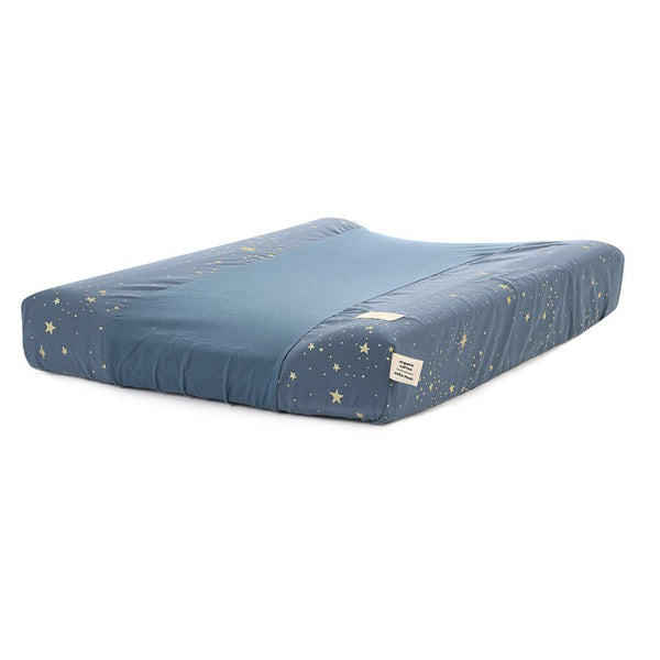 Calma Changing Mat with Cover . Night Blue / Gold Stella