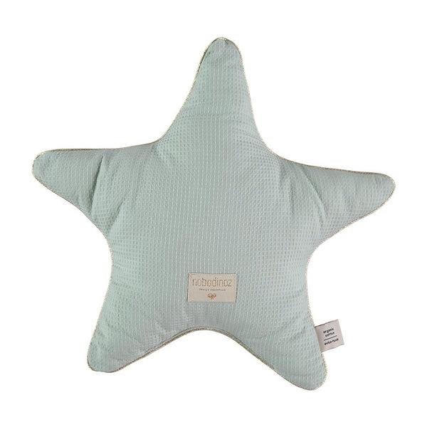 Cushion . Cotton Star - Aqua / Aristote 40cm x 40cm