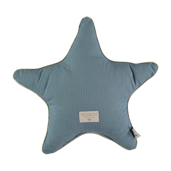 Cushion . Cotton Star - Magic Green / Aristote 40cm x 40cm