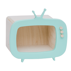 Toy/Storage . Wooden Teevee - Mini/Mint