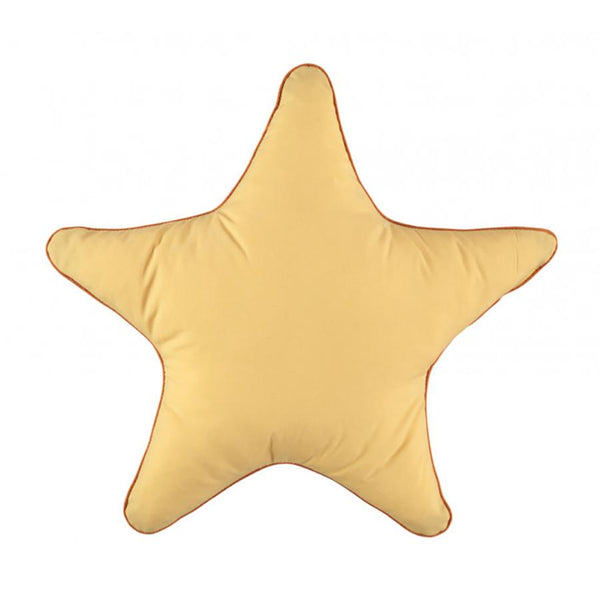 Cushion . Cotton Star - Yellow / 45cm x 45cm