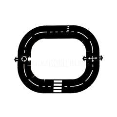 Toy . Rubber Road Track - Ringroad