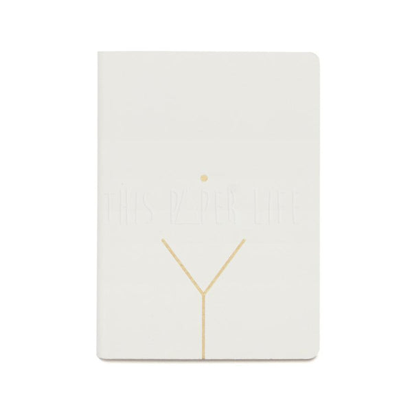 Notebook . Small Dotted Journal - Very Secret Diary / Gold