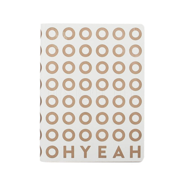 Notebook . Large Dotted Journal / Graphic Oh Yeah