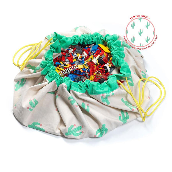 Storage . Toy Bag / Play Mat - Designer / Cactus