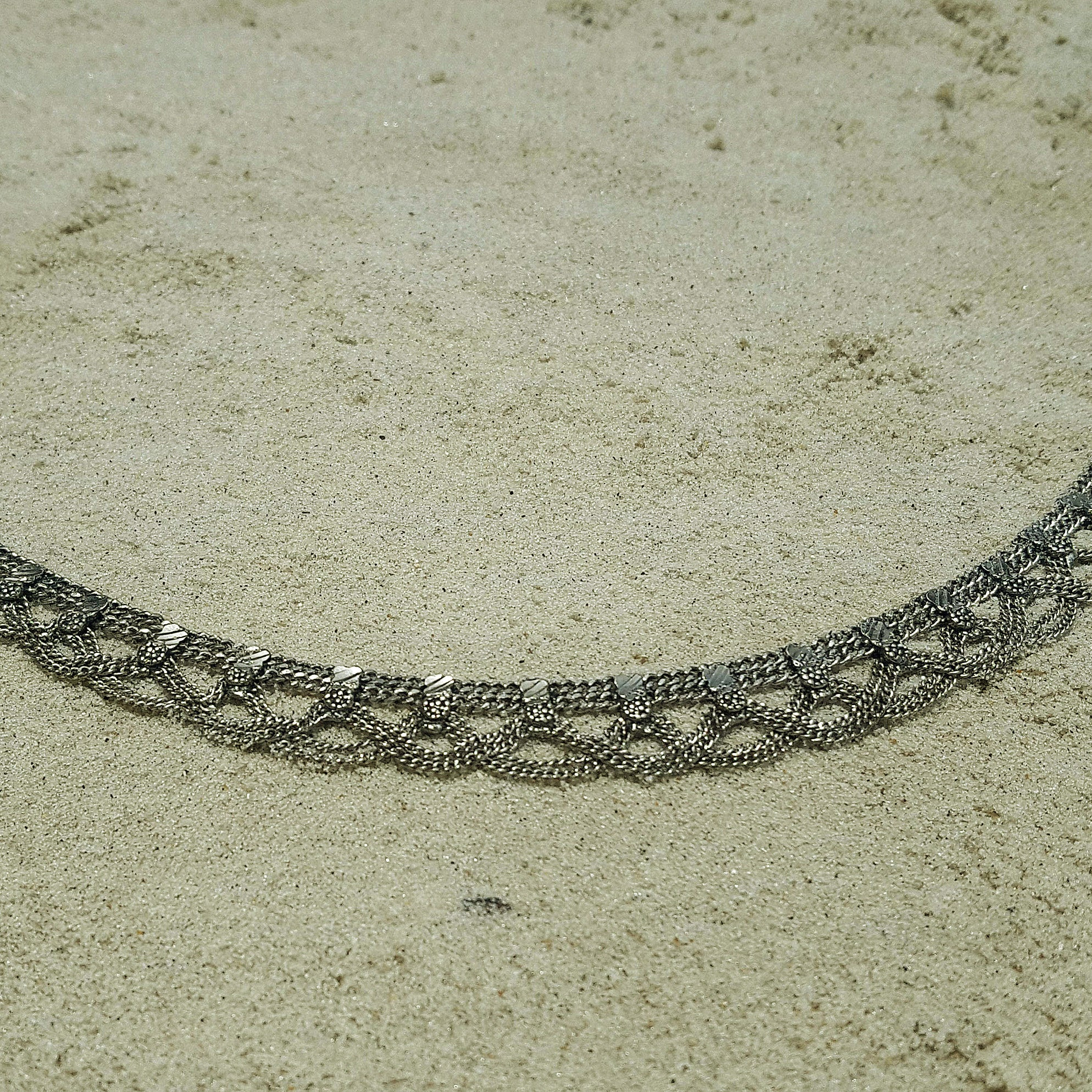Tribal anklet silver